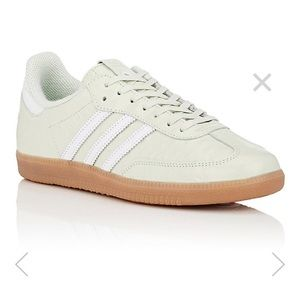 Adidas Leather light green samba sneakers